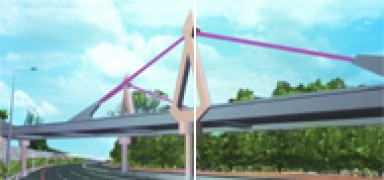 Traffic Bridges in the Trans-Israel Highway